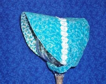 Reversible Baby Sun Bonnet Turquoise