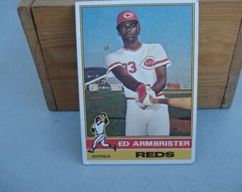 Ed Armbrister, Baseball Card, Vintage Card, Topps, Topps Baseball Card, Vintage Card, Cincinnati Reds Big Rec Machine, Out Fielder, Baseball