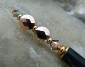 Hair Stick with Two Toned Rose Gold Swarovski Crystals - Quintessa