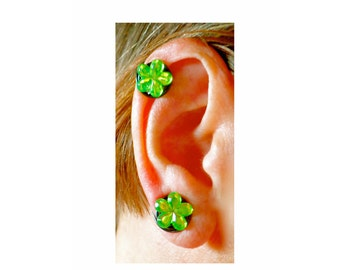 Flowers Clip-on Finger Pressure Earrings 13-15mm for Non Pierced Ear Lobes and Keloid Scar Concealment Handmade in USA by Earlums