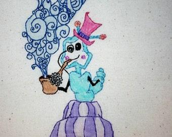 Steampunk Alice in Wonderland Catepillar