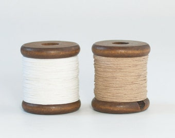 Medium Paper Yarn on a Wooden Bobbin (130 yards / 120m) - Knit, Crochet, DIY, Crafts