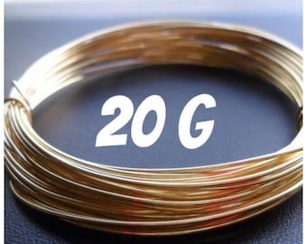 NuGold Brass Wire 20g Round Dead Soft 50ft