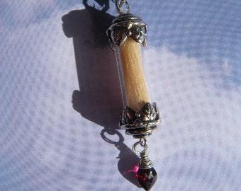 Bereavement Loss of Loved One Pet Guardian Angel Memorial Necklace Pendant Vial