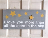 I Love You More Than All The Stars In The Sky Typography Word Art