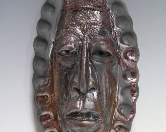 African Raku Mask number 11