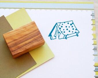 Polka Dot Tent Olive Wood Stamp