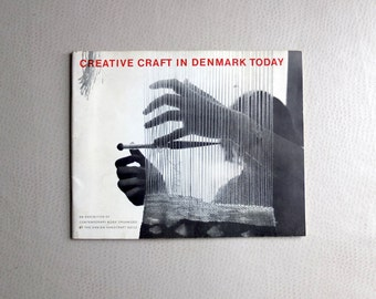 1962 Creative Craft in Denmark Today exhibit catalogue - Cooper Union 1962 - MCM mid century modern design history - rare museum reference