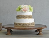 """18"""" Wedding Cake Stand Cupcake Stand Rustic Cake Topper Cake Stand Fall Wedding E. Isabella Designs Featured In Martha Stewart Weddings"""