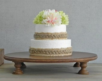 "22"" Wedding Cake Stand Rustic Cake Stand Cupcake Stand Grooms Cake Rustic Cake Topper E.Isabella Designs Featured Martha Stewart Weddings"