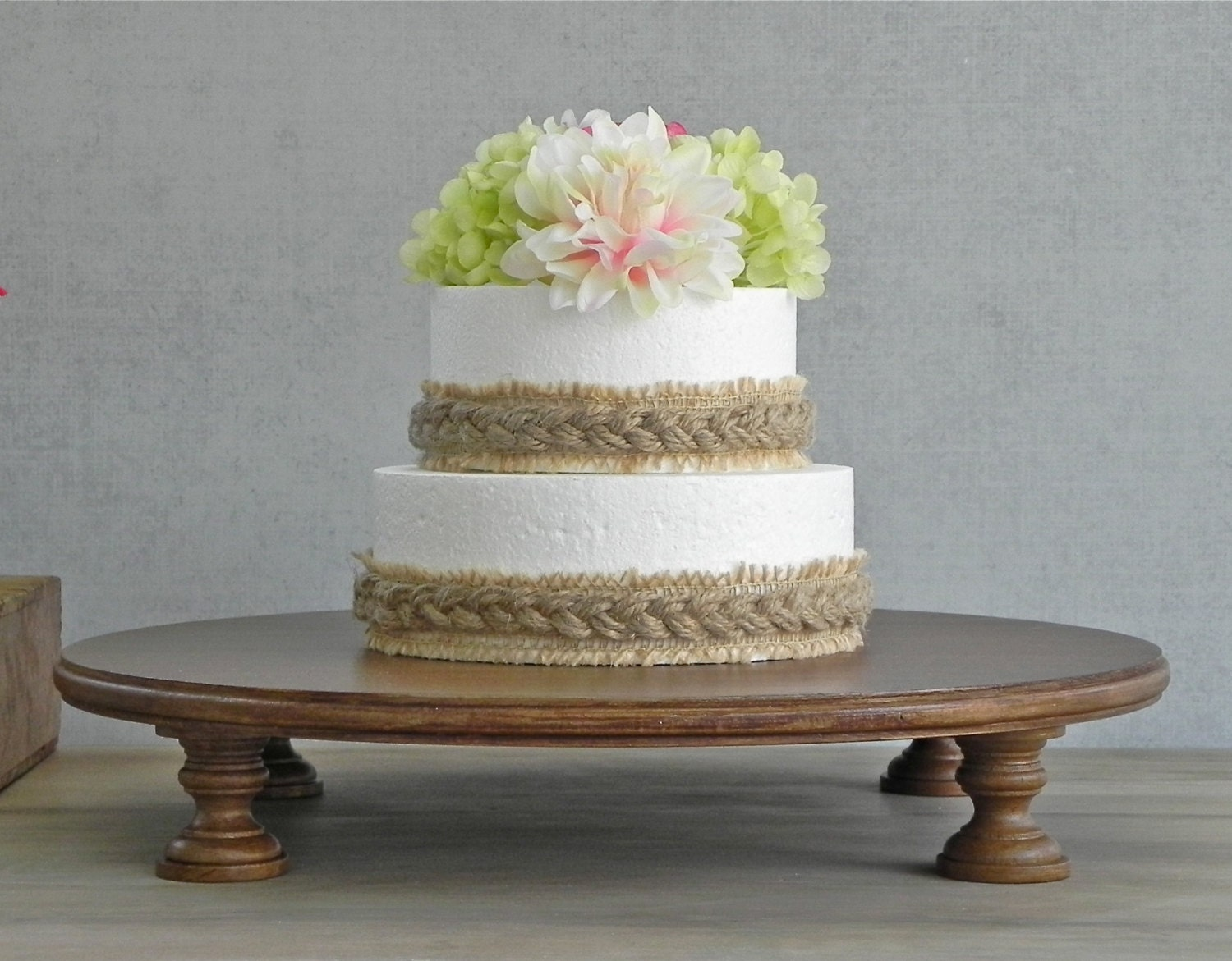 20 Wedding Cake Stand Cupcake Pedestal Stand Rustic