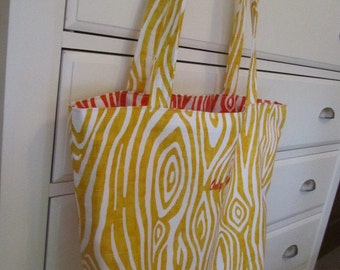 Willow - Yellow - Reversible Tote (Daily Carryall) - Only Totes by JD Designs