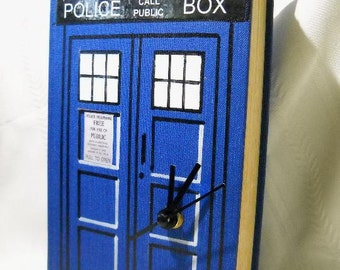 Doctor Who Tardis Book Clock