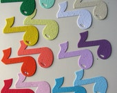 25 Seed Paper Music Notes