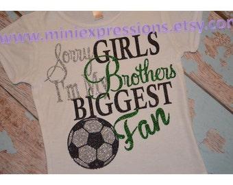 Glitter soccer Sister Shirt