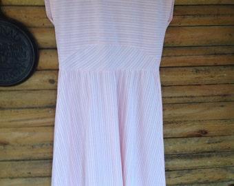 Plus size vintage nubby texture easy dress