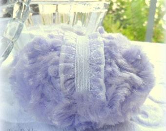 Lavender Powder Puff - pastel lilac purple bath pouf - powderpuff - gift box option - Handmade by Bonny Bubbles