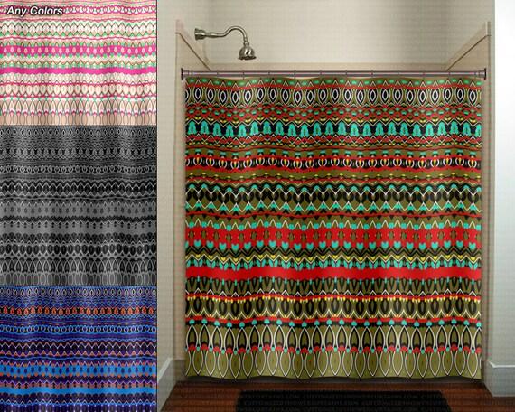 Boheme hippie art tapisserie native douche rideau salle de - Rideau boheme ...