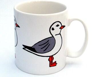 Seagull Mug, Bird Mug, Tea Mug, Men's Gift, Gifts for Mum