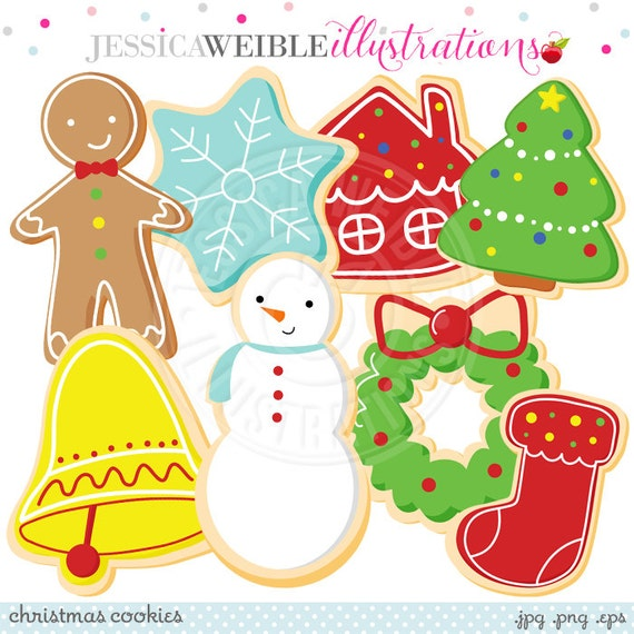 Christmas Cookies Cute Digital Clipart - Commercial Use OK ...