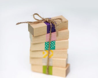 Priority Mail- Set of 40-  Wood Rectangles (Birch)  1/2 x 3/4 x 2-1/4 inch