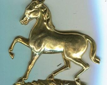 Large Horse Brass Metal Stamping