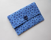 Small Wallet Business Card Wallet Gift Card Holder Blue Dots