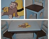 Children\u0027s Table and Chair Set \u2013 Curious George Design & Items similar to Children\u0027s Table and Chair Set \u2013 Curious George ...