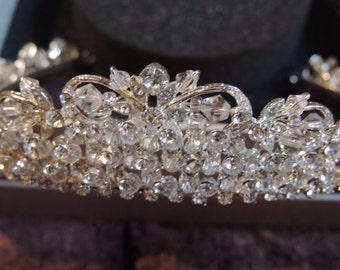 Magnificent Swarovski Crystal Bridal Tiara Crown
