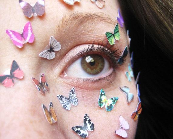 Tiny Butterfly Eye Decal Sticker Mask