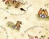 Zinnia's Garden Critters - Red Rooster Fabrics - Fat Quarter