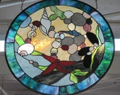 Stained Glass Ocean Tide Pool Panel