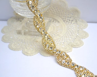 Gold Bridal Belt, Bridesmaid Belt, Gold Wedding Belt, Rhinestone Bridal Sash, Downton Abbey, Rhinestone Bridal Belt, Sparkly Gold Sash