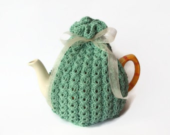 tea cozy hand knitted tea cosy uk seller