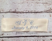 Ivory or White Personalized Wedding Dress Label