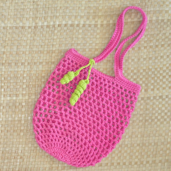 Crochet Small Tote Bag Pattern : PDF Small Jemmas Market Bag N Mesh Tote Crochet Pattern ...
