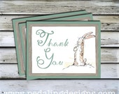 30% OFF!! Printable Thank You Note - Rabbit