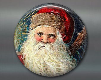 holiday magnet, victorian santa magnet, christmas decoration, kitchen decor, large magnet, oversize magnet  MA-1329