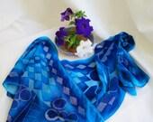 Whimsical cut velvet scarf