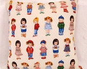 Pillow Cover- Dolls - Embroidered Pillow case Home Decor Girls Pillow Nursery Decor