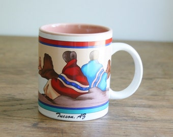Vintage Tucson Arizona Coffee Mug - Native American