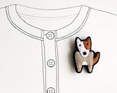 Bull Terrier Dog Brooch, Animal Brooch, Felt Pin, Cute, Under 25 - READY TO SHIP