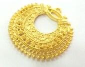 40 mm  Medallion  Pendant  , Gold Plated Metal G2875