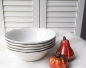 Ironstone Soup Bowls J&G Meakin England Sterling China Farmhouse Decor