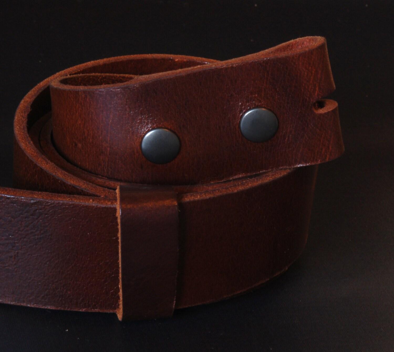 interchangeable mahogany grain leather belt 1 1 2