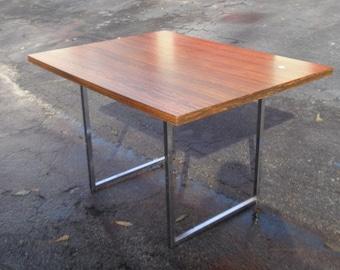 Vintage Mid Century Modern MCM Milo Baughman Style Desk Table w Rosewood Top