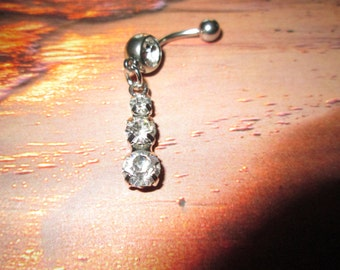belly ring rhinestone bling belly button ring body jewelry