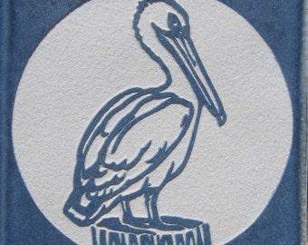 4x4 Pelican Etched Porcelain Tile - SRA