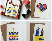 Building Blocks - Stamped Ink Greeting Cards