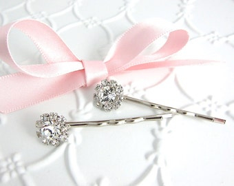 Rhinestone Bobby Pins Wedding Flower Girl Holiday Gift